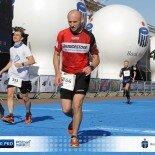 Darek na maratonie w Poznaniu